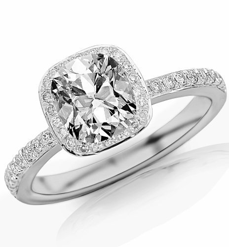 1000+ images about Cushion cut engagement rings on ...