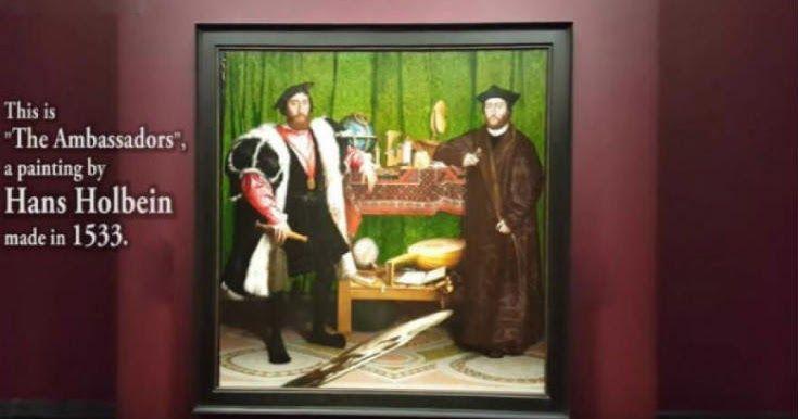 Εκπληκτική οπτική ψευδαίσθηση σε πίνακα ζωγραφικής του 1533 [Βίντεο]