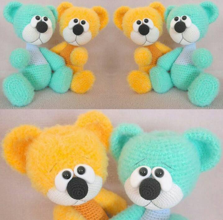 126 best Bären Teddys images on Pinterest   Bären, Häkeltiere und ...