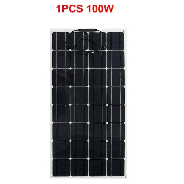 100w Watt 18v Flexible Solar Panel Monocrystalline Bendable Folding Solar Panel With Adhesive Glue Direc Solar Panels Flexible Solar Panels Solar Energy Panels
