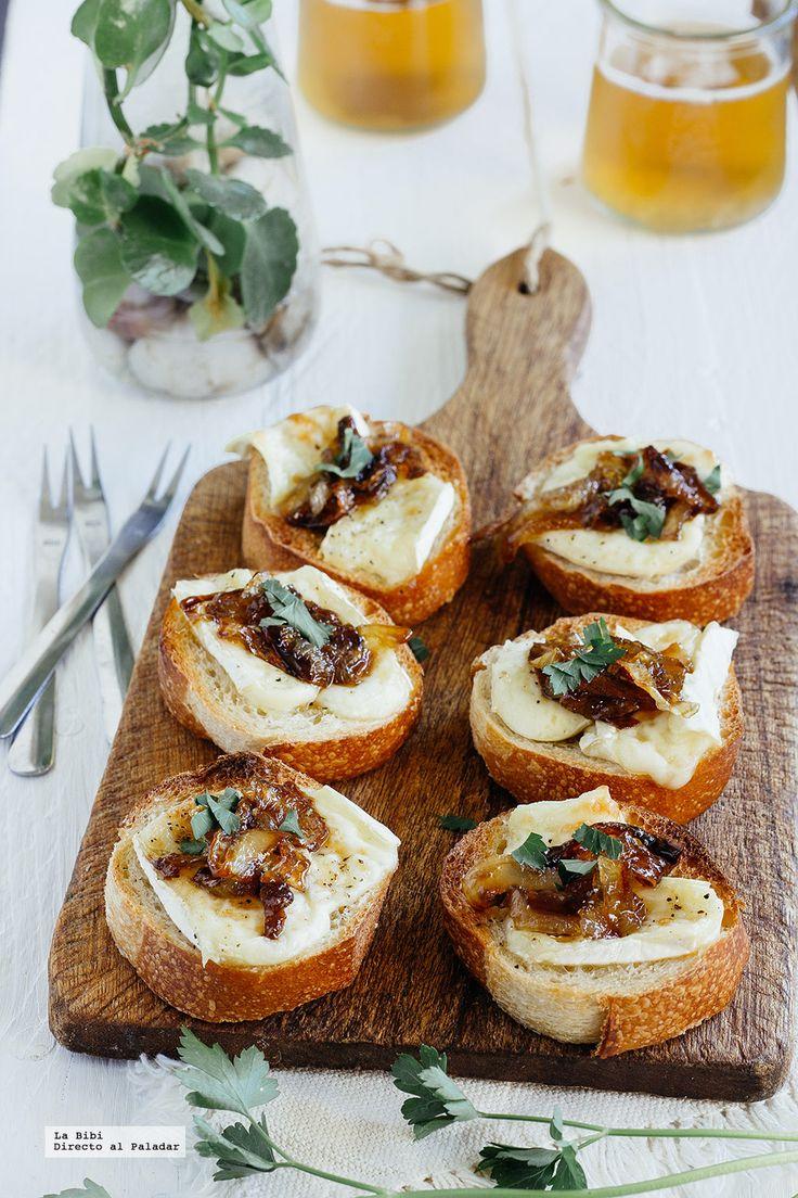 Las 25 mejores ideas sobre aperitivos de queso brie en for Canape de pate con cebolla caramelizada