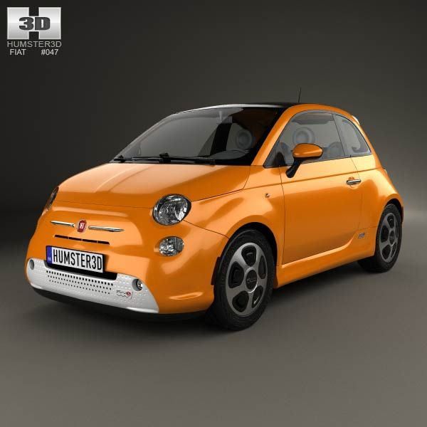 Fiat 500 E 2012 3d model from humster3d.com. Price: $75