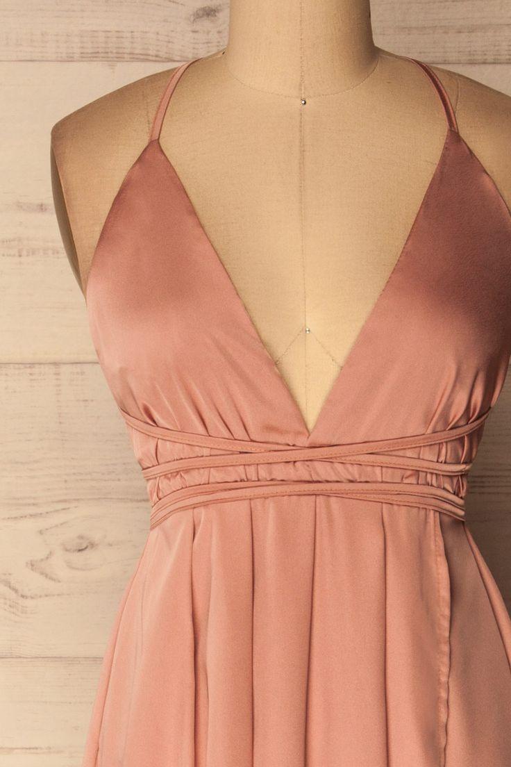 Borra Pink Wrap Halter Gown | La Petite Garçonne