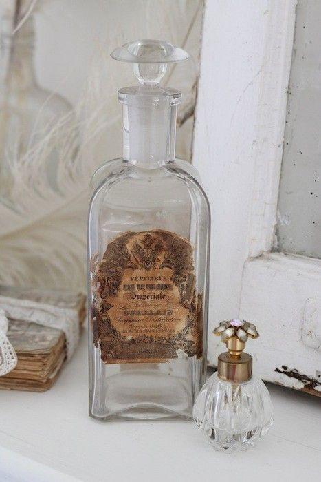 Crystal vintage bottle