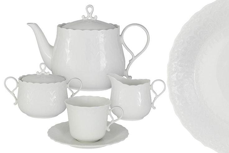 Чайный сервиз из костяного фарфора на 6 персон «Шёлк»      Бренд: Narumi (Япония);   Страна производства: Индонезия;   Материал: костяной фарфор;   Коллекция: Шёлк;   Количество персон: 6;   Количество предметов: 17 шт;   Объем чашки: 200 мл;   Объем чайника: 1,2 л;   Объем молочника: 250 мл;   Объем сахарницы: 400 мл;         Чайный сервиз из костяного фарфора на 6 персон «Шёлк» состоит из 17 предметов:         6 чашек 0,2 л;      6 блюдец;      1 чайник 1,2 л с крышкой;      1…