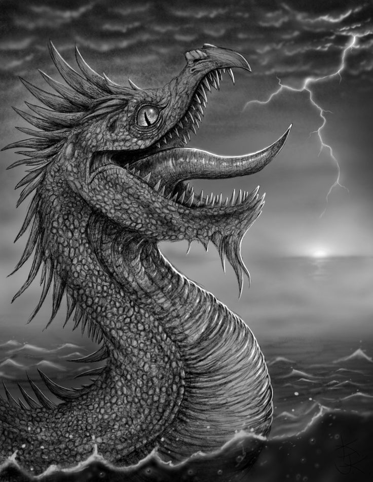 Giant sea monsters art - photo#30