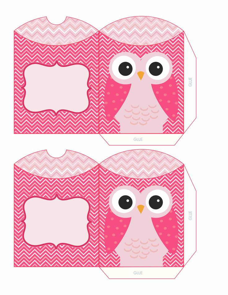 PINK OWL PILLOW BOX