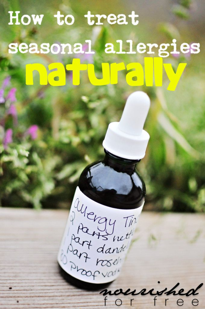How to Treat Seasonal Allergies Naturally and Without Medication | Nourished for Free