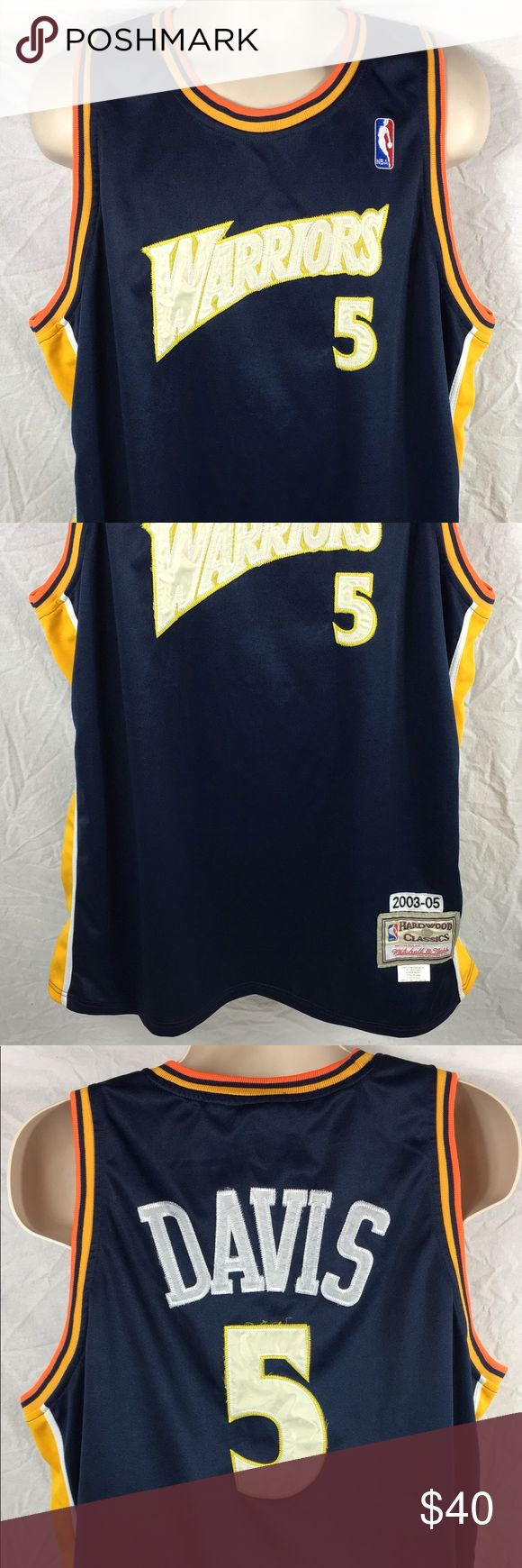 Hardwood Classics Baron Davis Golden State Warrior Jersey is in excellent condition. No rips or stains. Has a lot of life left in it. See pictures for details. NO TRADES. Any questions feel free to contact me. Mitchell & Ness Other