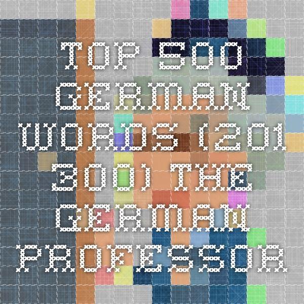 Top 500 German words (201-300) - The German Professor