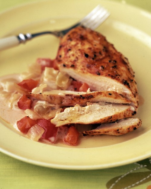 Smothered Chicken! Delishnin the DCB!  Get yours at www.pamperedchef.biz/cookingwithcora