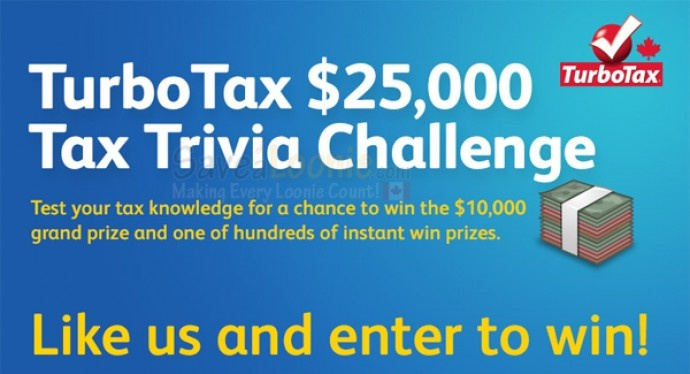 TurboTax $25,000 Tax Trivia Challenge | Contests / Giveaways, Weekly Entry Contests