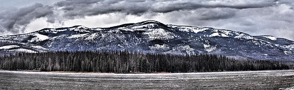 """""""Life On The Lake- The Other Side""""  Panoramic view @ Seeley Lake, Mt."""
