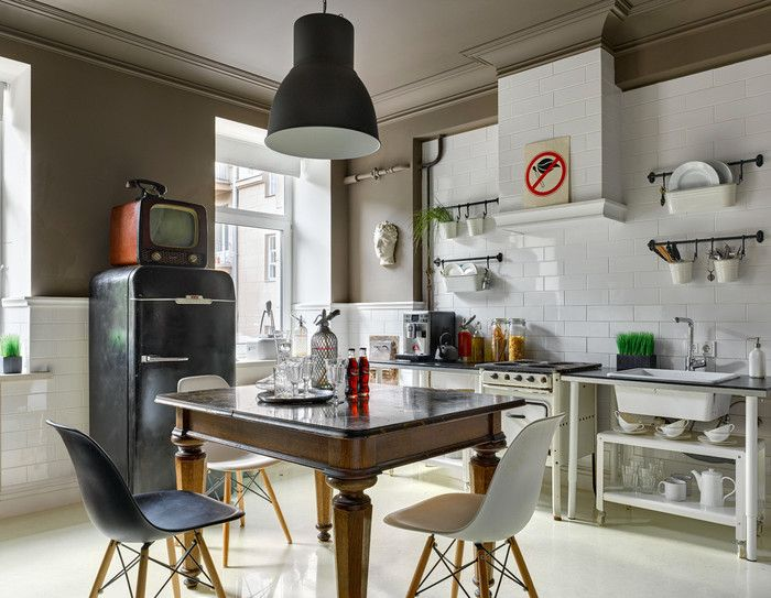 Офис студии дизайна А3 в стиле ретро – Красивые квартиры