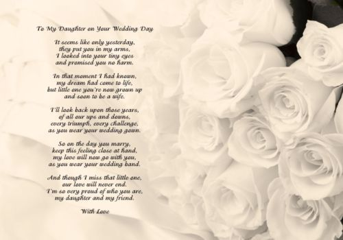To my wife on our wedding day poem