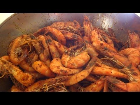 Louisiana Spicy Shrimp Recipe (Boiling Crab - Whole Sha-Bang Style) - YouTube