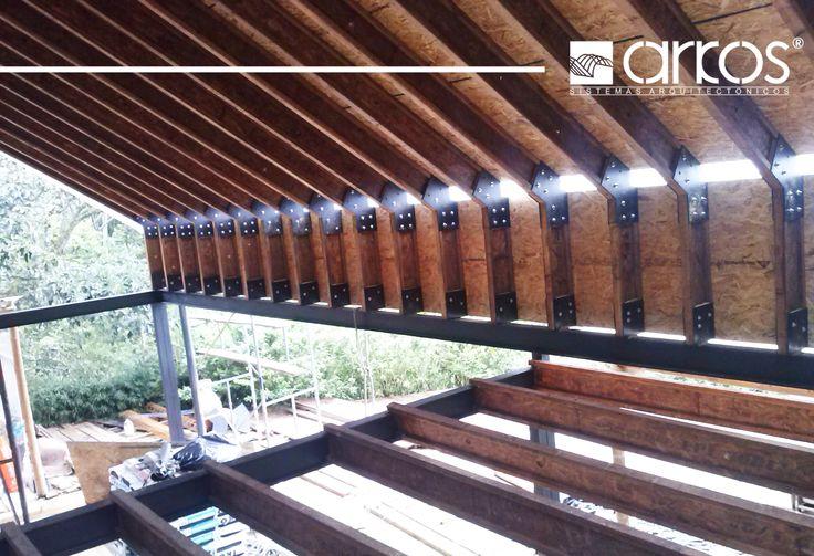 Tableros OSB y vigas doble T para construcción seca