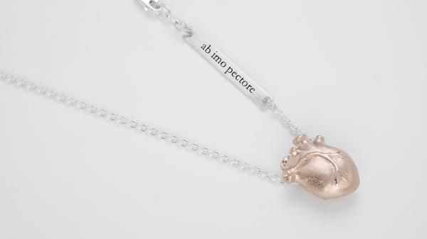 Medium Anatomic Heart Necklace, Rose gold – Bjørg Jewellery
