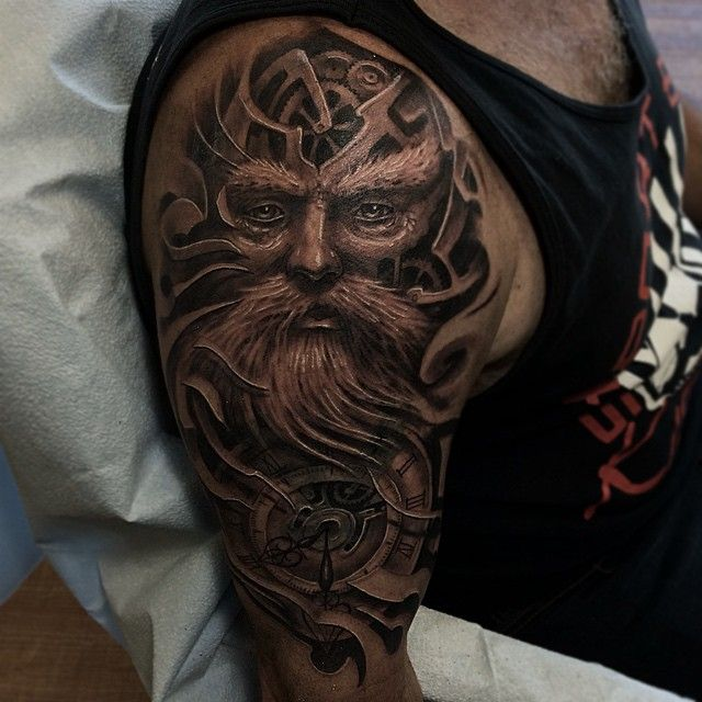 32 Best Father Time Tattoo Design Images On Pinterest