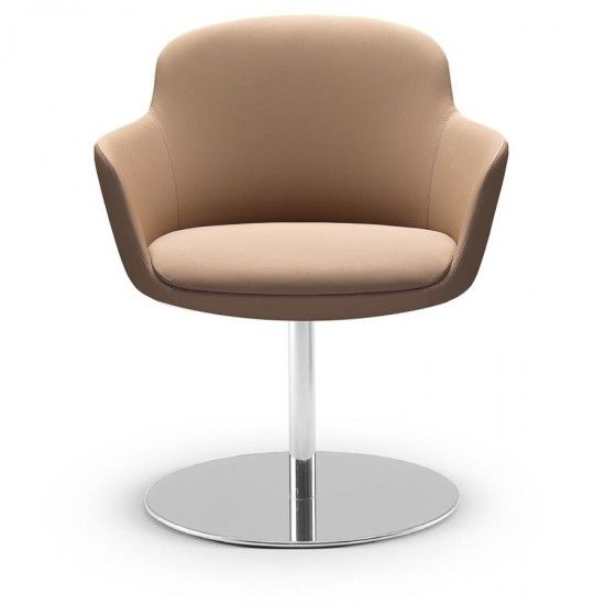 The Danae Guest Chair combines style and functionality, a small footprint Guest chair that's comfortable and will fit in an any corporate environment #seated #visitorchair #lounge #design seated.com.au