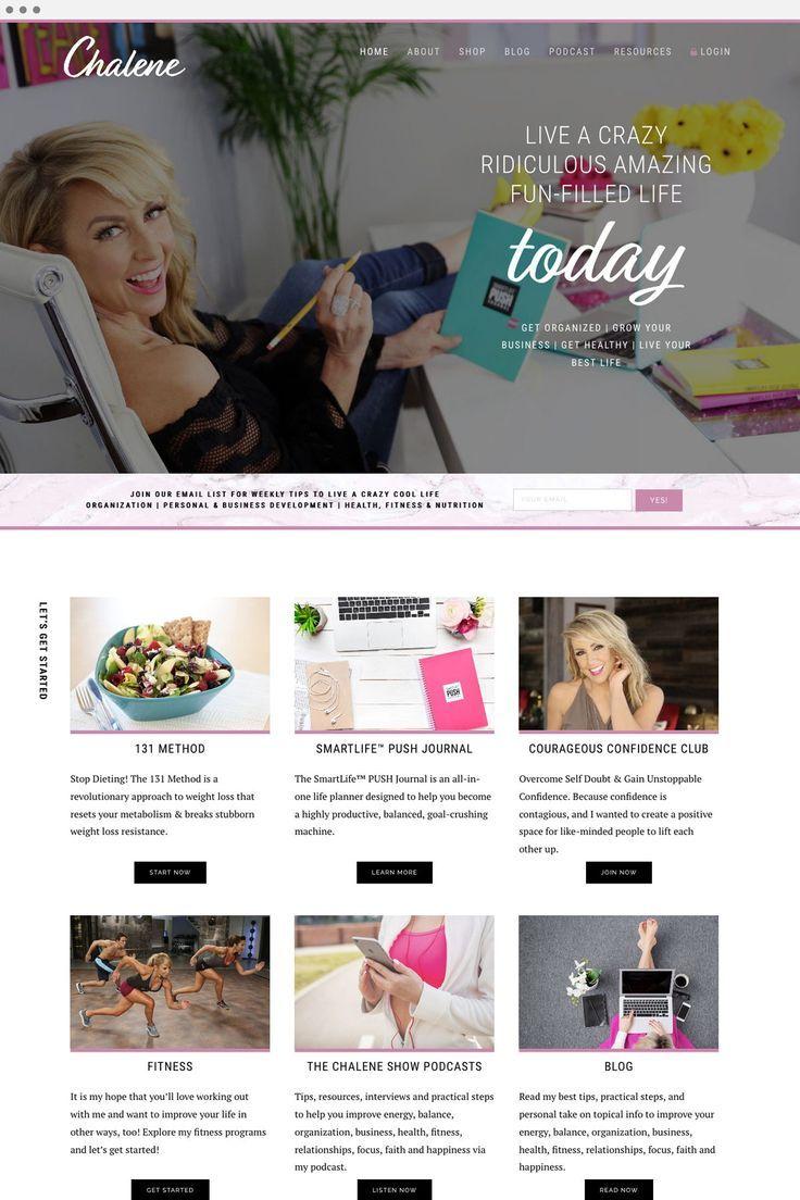 Website Design For Chalene Johnson By Viva La Violet Handcrafting Heartfelt Brand Web Designs For Female Web Design Branding Website Design Website Design