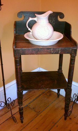 Gorgeous Antique Wash Basin With Stand.
