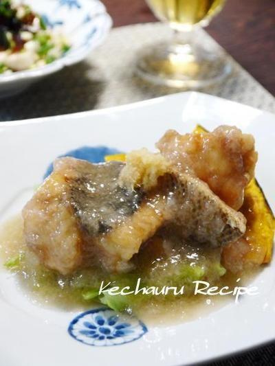 白身魚のみぞれあんかけ 素揚げ野菜添え』 by Yoshikoさん | レシピ ...