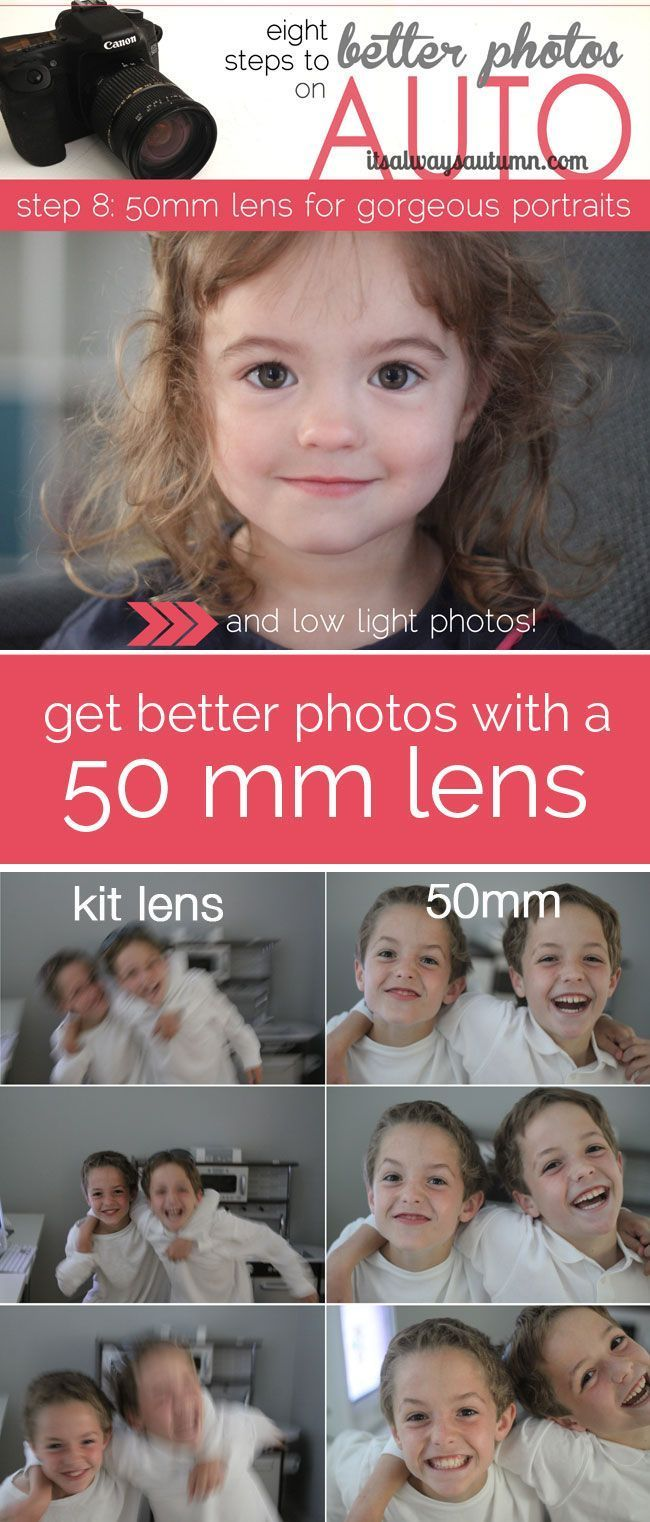"""Photography Tips   Learn what a difference an inexpensive 50mm lens can make in your photography - even if you shoot on AUTO! Great comparison of photos from the 50mm vs the kit lens. Part of the """"better photos on AUTO"""" series."""