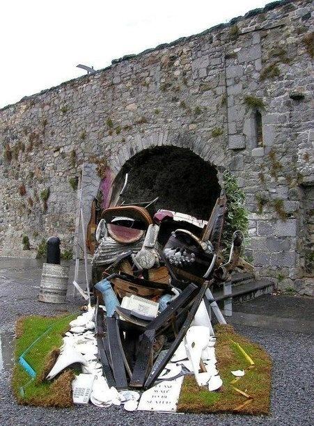 Amazing pieces of art by Bernard Pras  Spanish Arch, Galway, Ireland