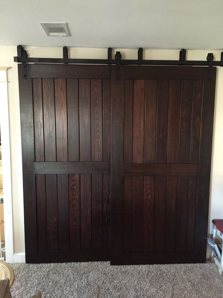Woodworker and Rockler customer Mike C used General Finishes Java Gel Stain to complete his sliding barn door project.