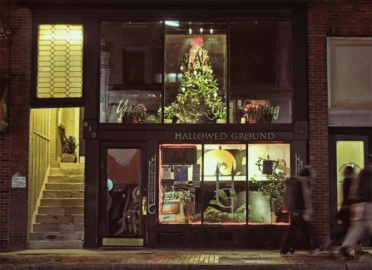 Christmas tree above hallowed ground congress street for Hallowed ground tattoo