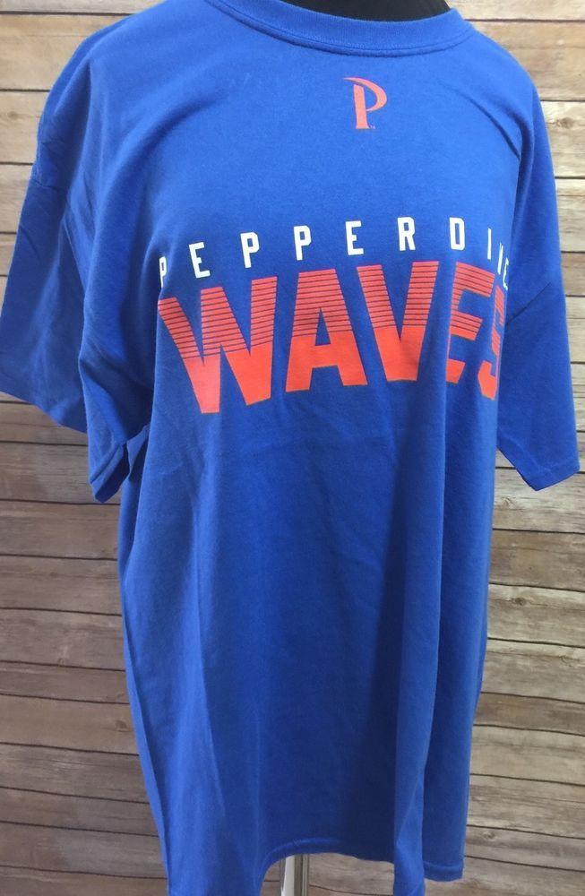 Pepperdine Wave  T Shirt Camp David Football Basketball Large NWT #CampDavid #PepperdineWaves
