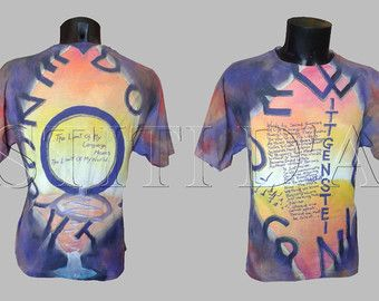 WITTGENSTEIN TSHIRT for mens tshirt wearable art clothing art boho clothing for mens clothing painted work of art dress bohemian clothing…