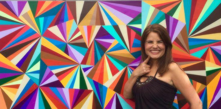 Bio carla bank vibrant modern art bio painting