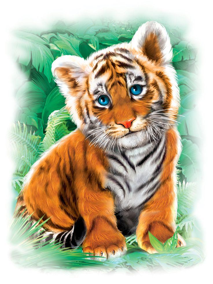 Стрелка, тигрята картинки для детей