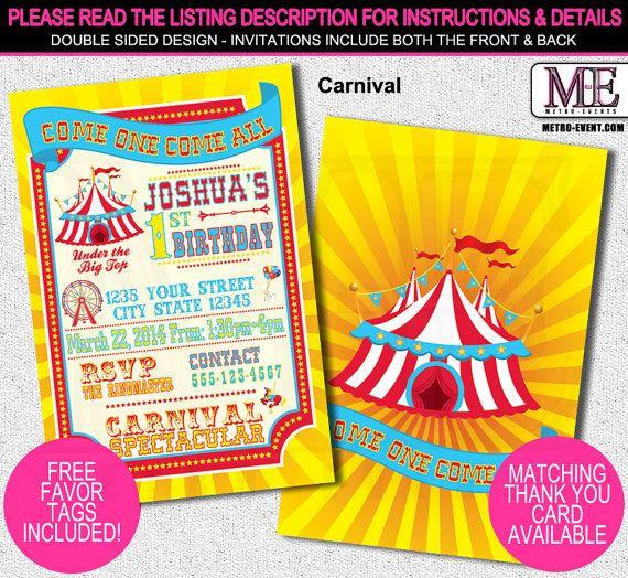 Best  Circus Invitations Ideas On   Circus Birthday