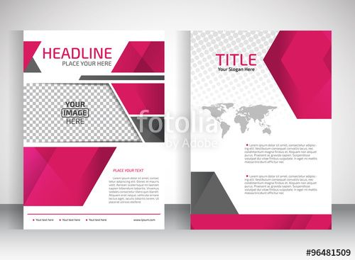 Vector: Brochure design a4 template place for pictures. Vector illustration…