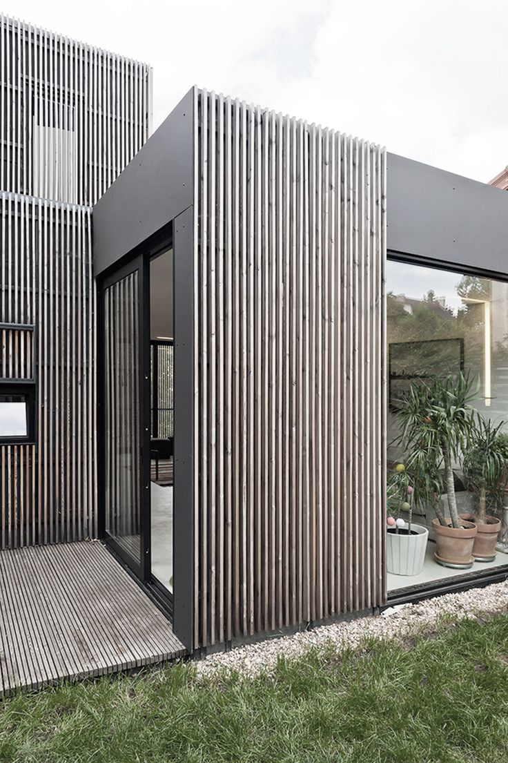 17 best ideas about house facades on pinterest modern - Wooden cladding for exterior walls ...