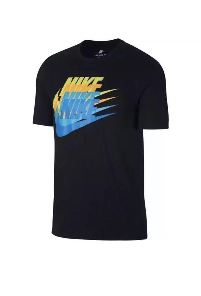 a97d7d281784 NIKE Multi Swoosh T-SHIRT 911901 010 SIZE XXL 2XL 100% COTTON New  Nike   GraphicTee