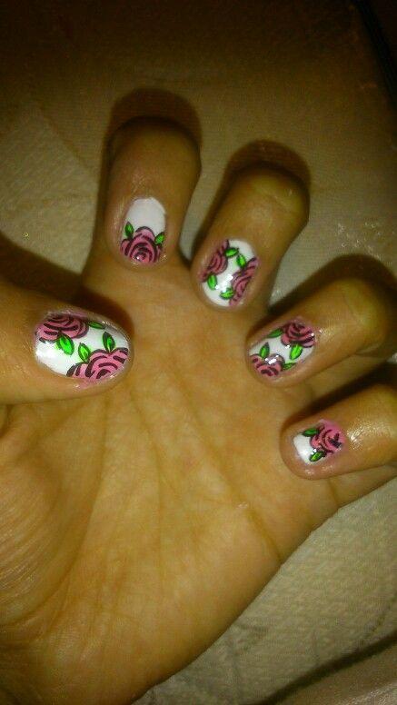 Nail rosas pink