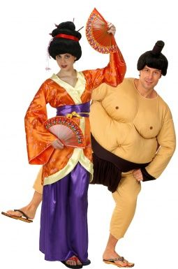 Costume coppia geisha e sumo http://www.vegaoo.it/costume-coppia-geisha-e-sumo.html