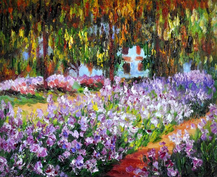 Artists garden at giverny claude at overstockart