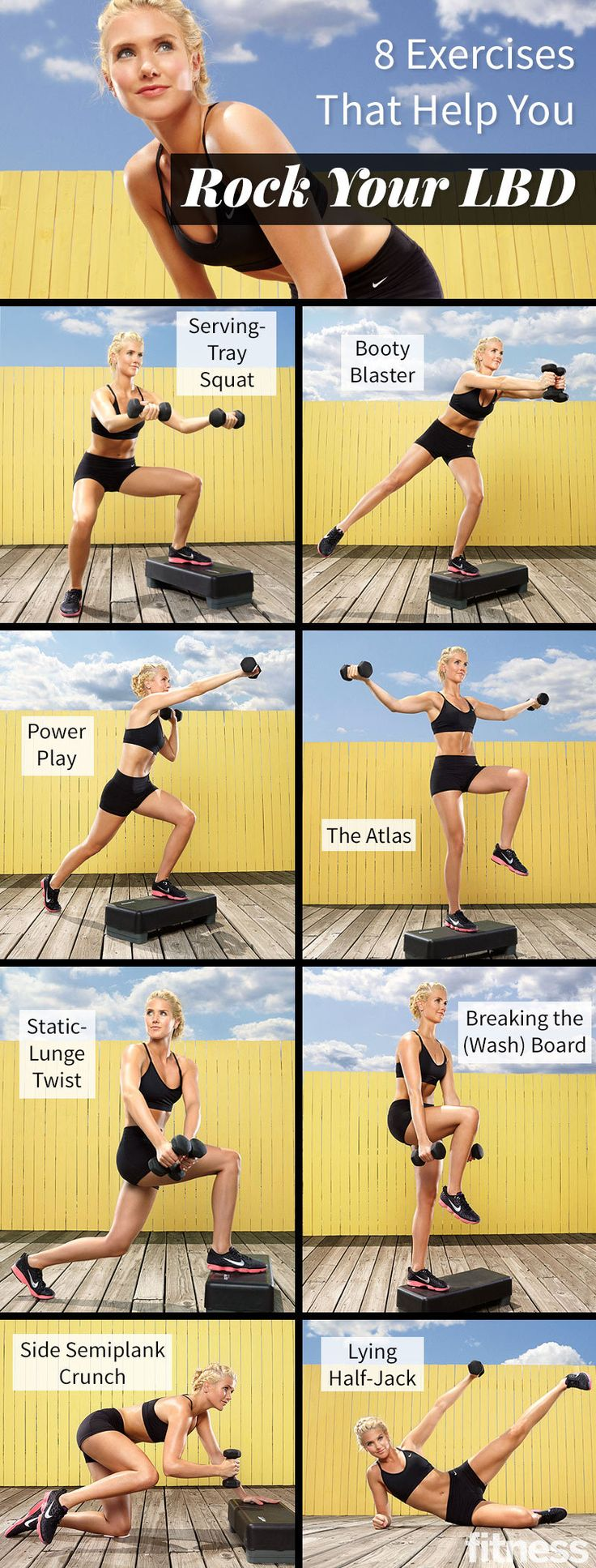 8 Exercises That Help You Rock Your LBD (full body circuit with weights)                                                                                                                                                                                 More