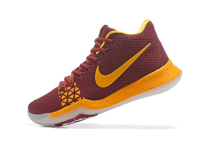 finest selection a5cb0 6c380 Cheap Nike Kyrie 3 Flyknits Maroon Yellow   www.lebron10.net    Nike kyrie 3 、Nike kyrie 和 Kyrie 3