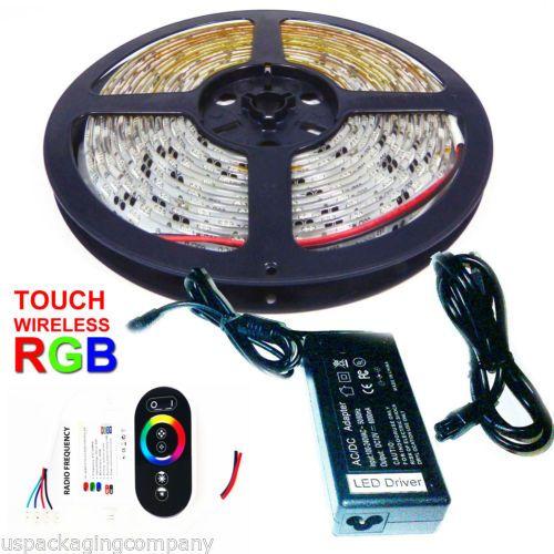 16FT RGB LED Kitchen Under Cabinet Light Strips Strip Bars Kit 120V Touch  Cntl
