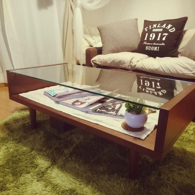 mikaさんの、IKEAのクッションカバー,3coinsのクッションカバー,IKEAのクッション,カインズホームクッション,ひとり暮らし,ナフコ21スタイル,机,のお部屋写真