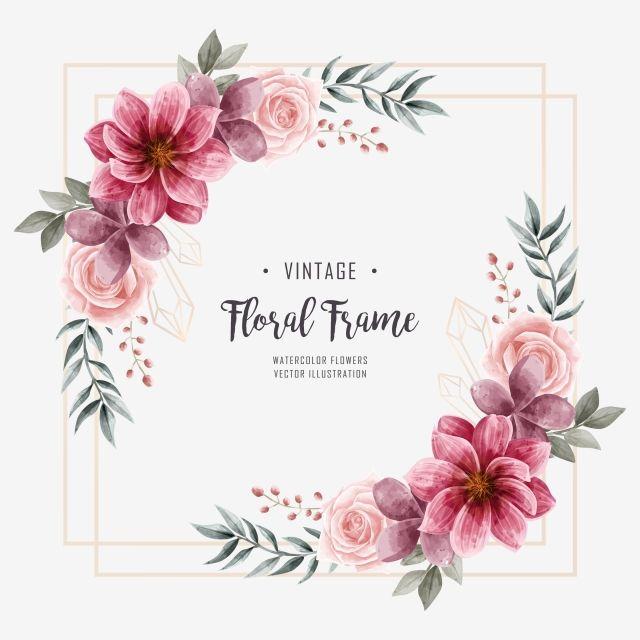 Hochzeit Aquarell Blumen Blume Dekoration Rahmen Hintergrund Muster Blume Png Und Psd Datei Zum Kostenlosen Download Aquarell Blumen Illustration Blume Blumen Logo