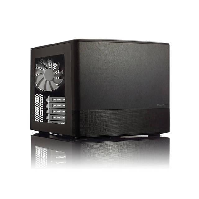 Fractal Design Node 804 No Power Supply MicroATX Cube Case w- Window (Black)