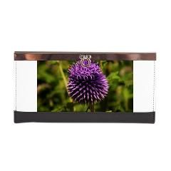Purple Thistle Clasp Wallet