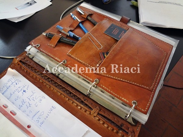 A two week leather bag making course in Florence, Italy -- Accademia Riaci Leather Working 055